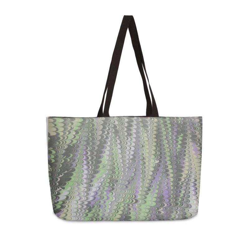 Marbled Purple Green Non-pareil Accessories Weekender Bag Bag by tonilee's Artist Shop