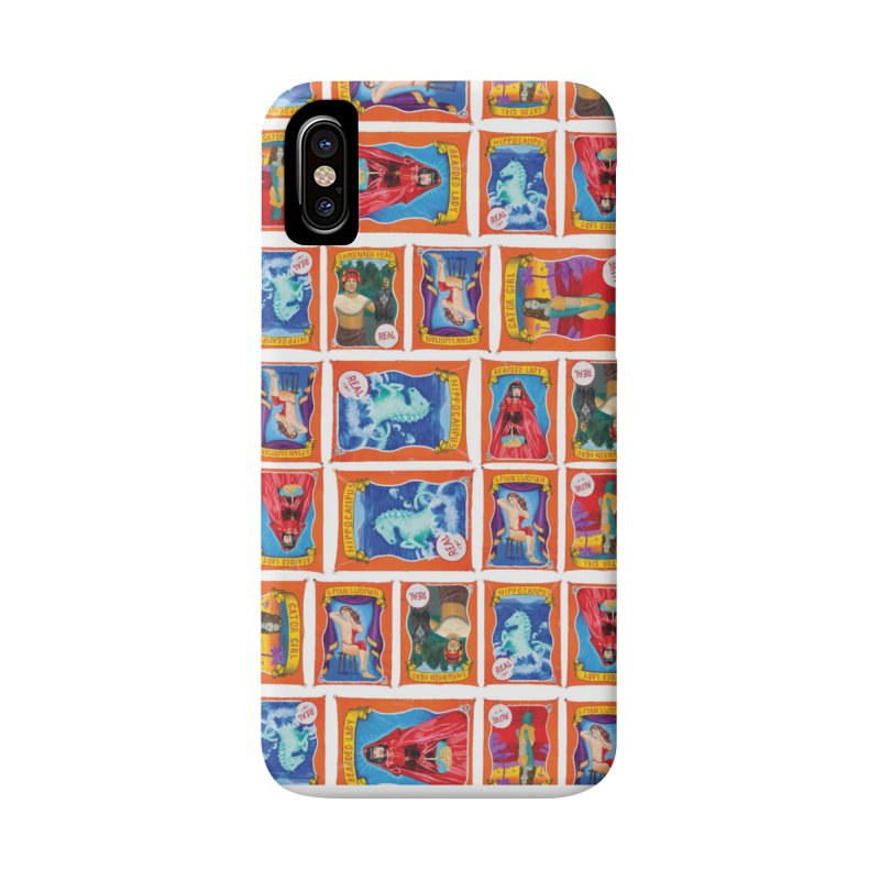 Sideshow Banner Multi Pattern, White Background Accessories Phone Case by tonilee's Artist Shop