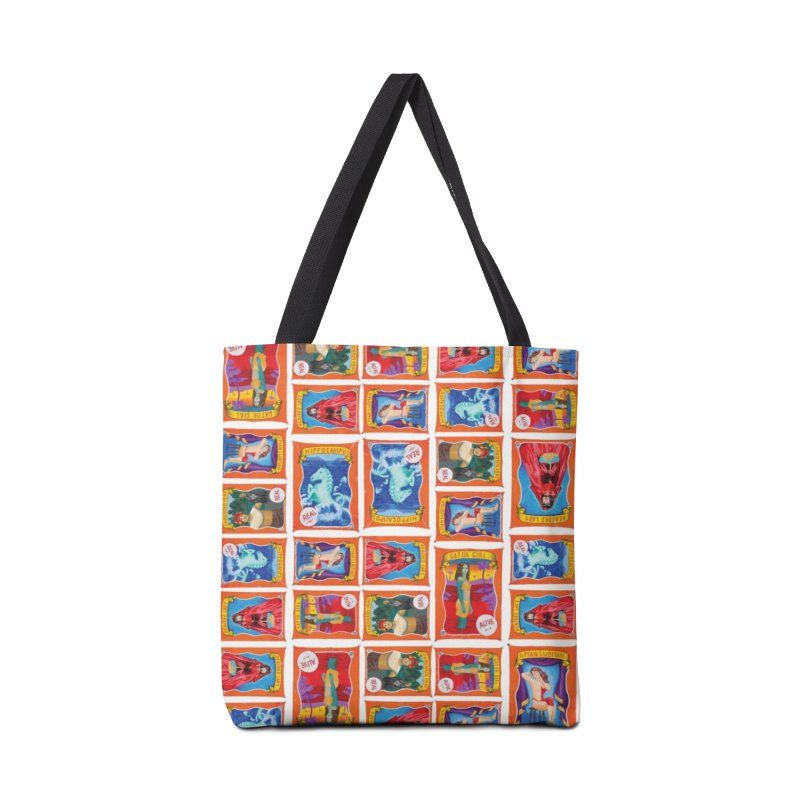 Sideshow Banner Multi Pattern, White Background Accessories Tote Bag Bag by tonilee's Artist Shop