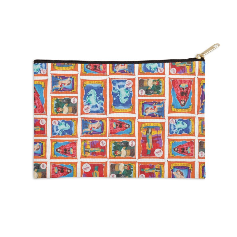 Sideshow Banner Multi Pattern, White Background Accessories Zip Pouch by tonilee's Artist Shop