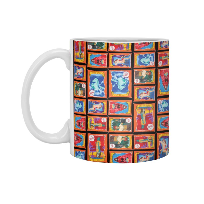 Sideshow Banner Multi Pattern, Black Background Accessories Standard Mug by tonilee's Artist Shop