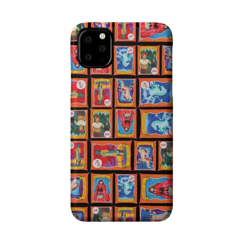 Sideshow Banner Multi Pattern, Black Background Accessories Phone Case by tonilee's Artist Shop