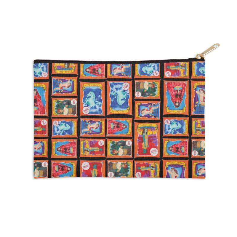 Sideshow Banner Multi Pattern, Black Background Accessories Zip Pouch by tonilee's Artist Shop