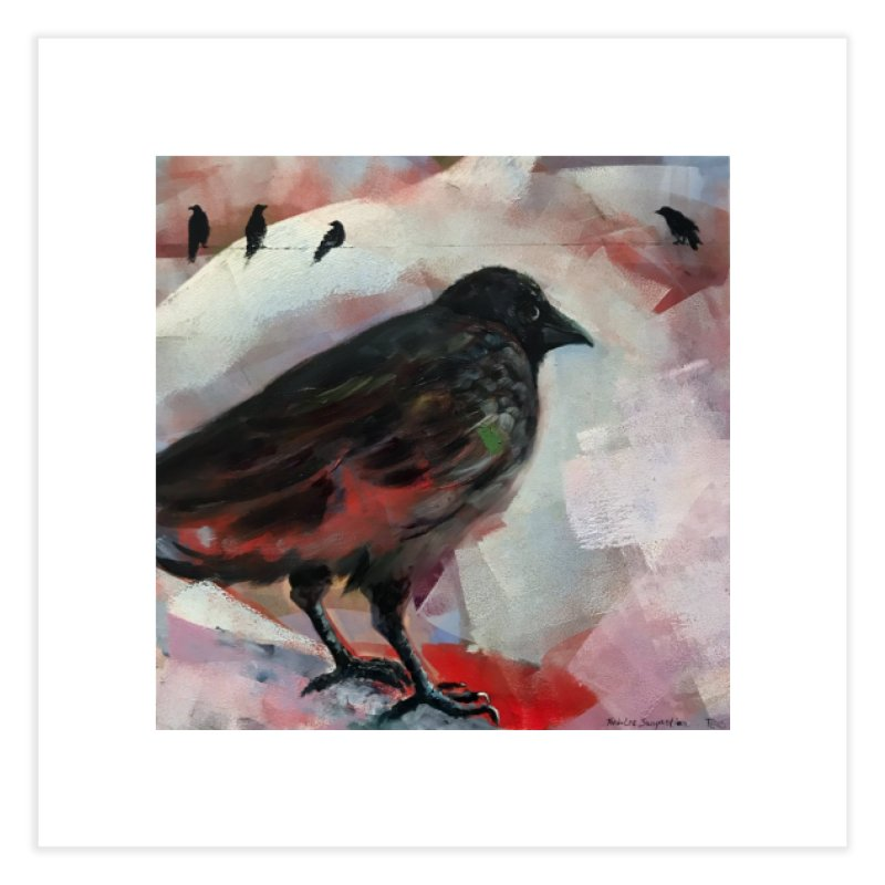 Crow on a Wire Home Fine Art Print by tonilee's Artist Shop