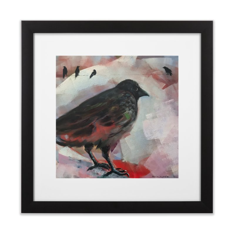 Crow on a Wire Home Framed Fine Art Print by tonilee's Artist Shop