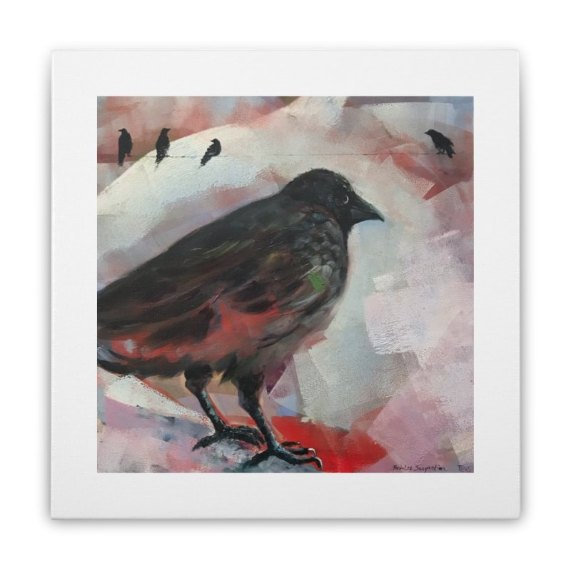 Crow on a Wire Home Stretched Canvas by tonilee's Artist Shop