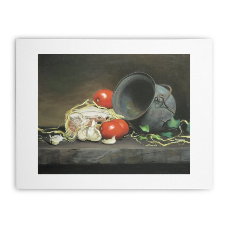 Alio e pomodori (Garlic and tomatoes) Home Stretched Canvas by tonilee's Artist Shop