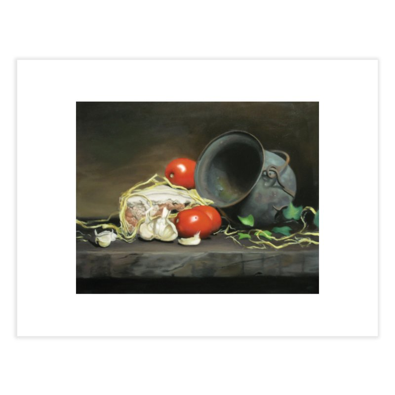 Alio e pomodori (Garlic and tomatoes) Home Fine Art Print by tonilee's Artist Shop