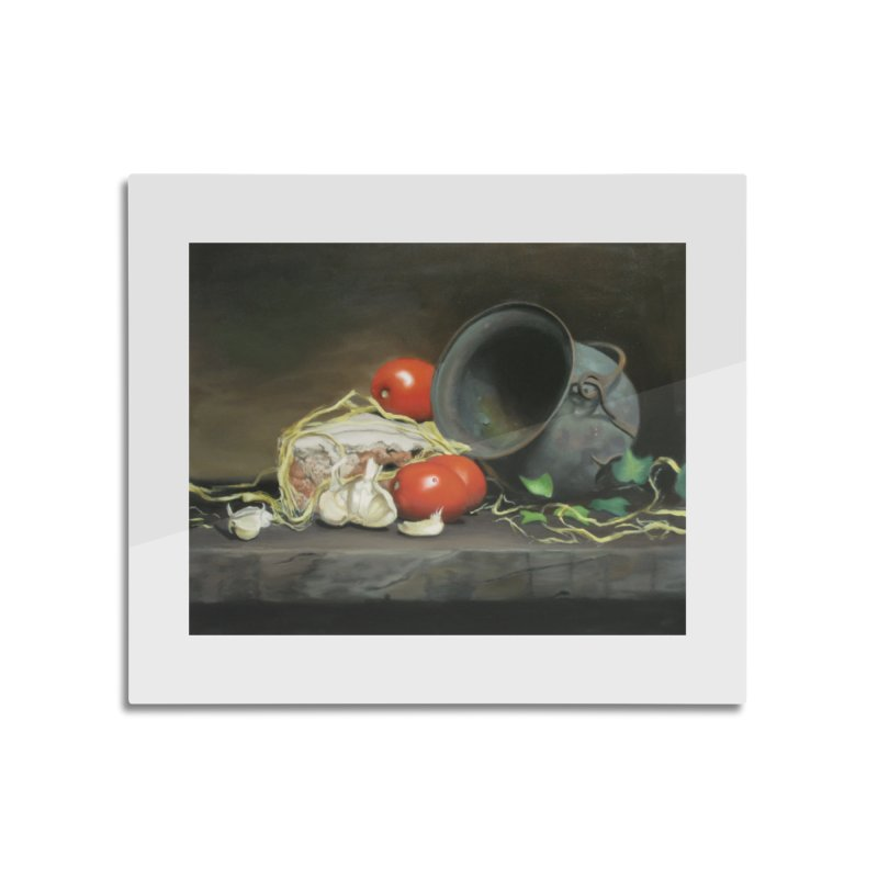 Alio e pomodori (Garlic and tomatoes) Home Mounted Aluminum Print by tonilee's Artist Shop
