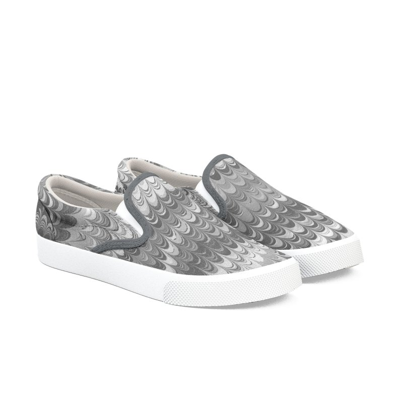Marble non-pareil gray Women's Slip-On Shoes by tonilee's Artist Shop