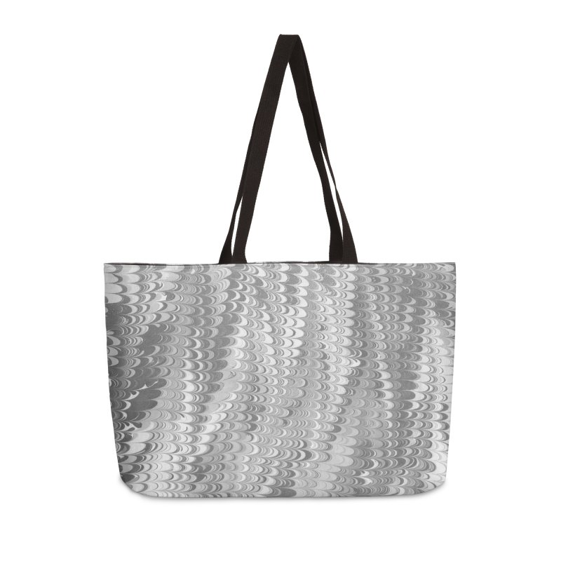 Marble non-pareil gray Accessories Weekender Bag Bag by tonilee's Artist Shop