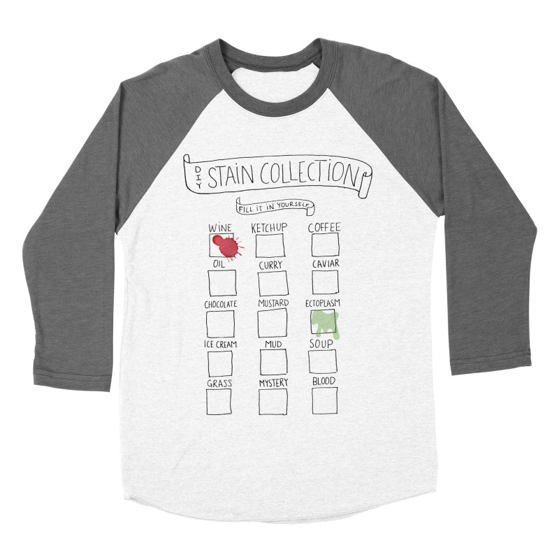 Stain Collection Men's Baseball Triblend Longsleeve T-Shirt by tonteau's Artist Shop