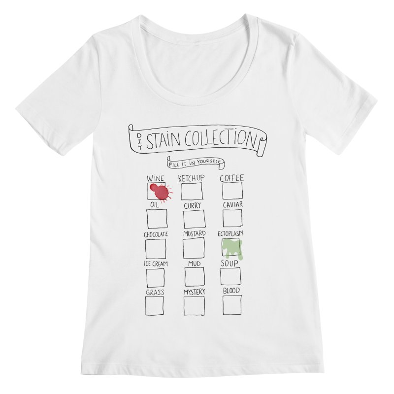 Stain Collection Women's Regular Scoop Neck by tonteau's Artist Shop