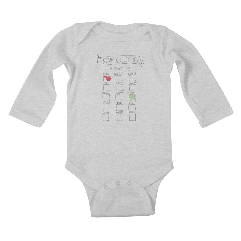 Stain Collection Kids Baby Longsleeve Bodysuit by tonteau's Artist Shop