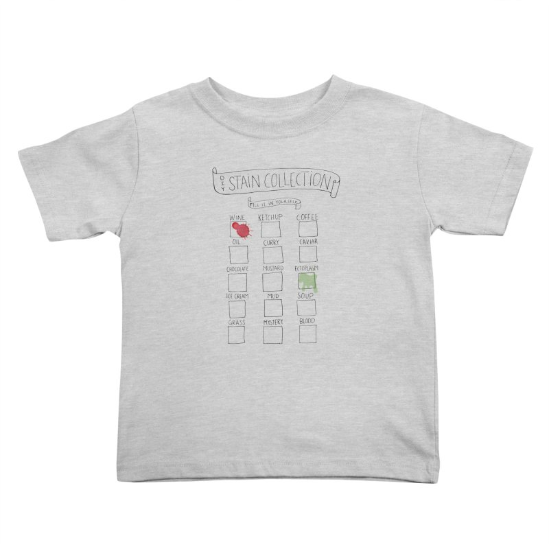 Stain Collection Kids Toddler T-Shirt by tonteau's Artist Shop