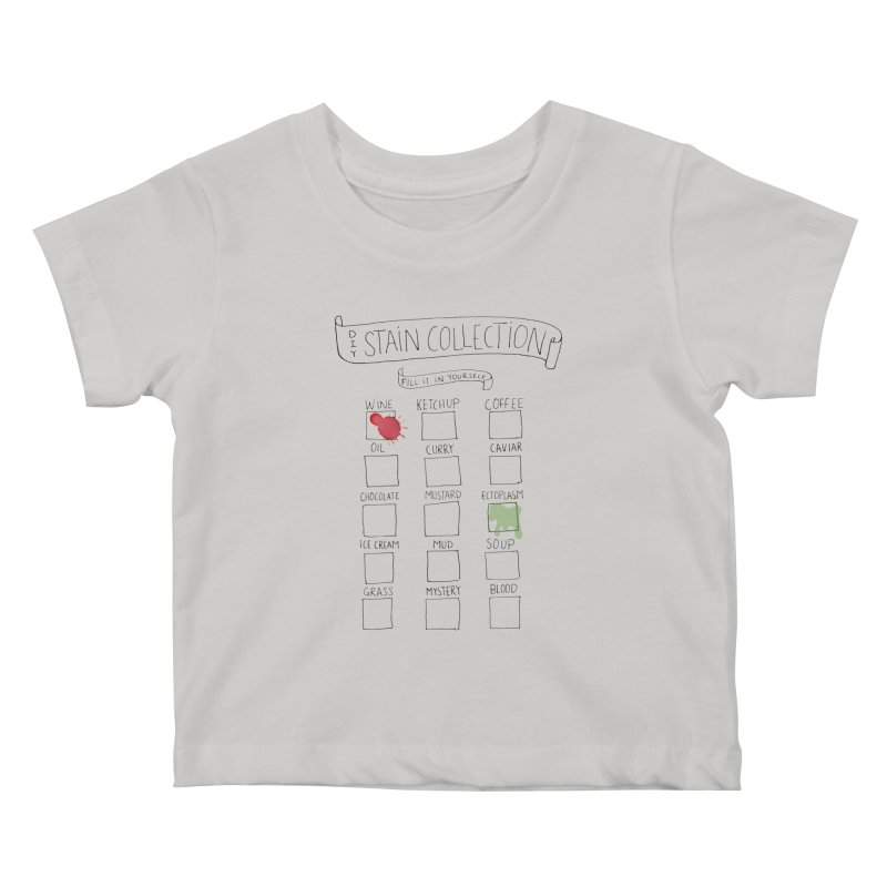 Stain Collection Kids Baby T-Shirt by tonteau's Artist Shop