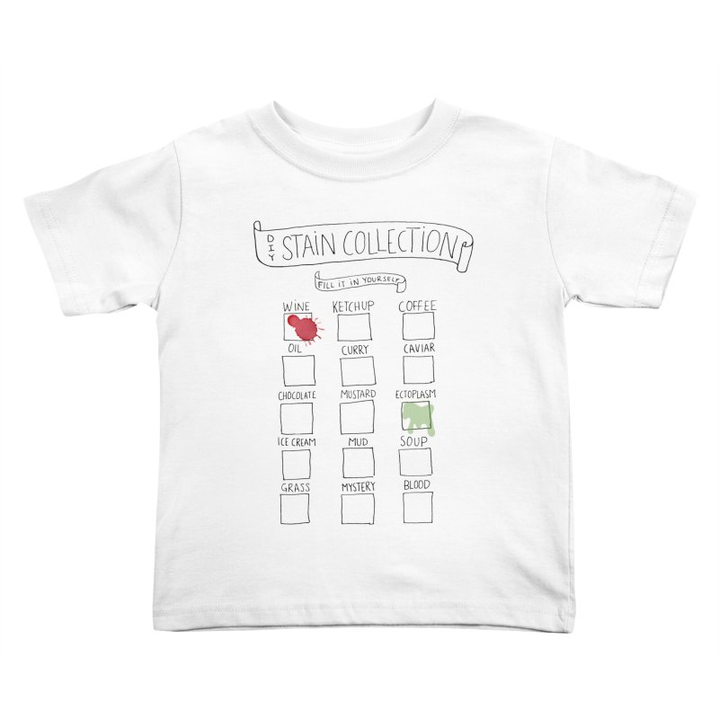 Stain Collection in Kids Toddler T-Shirt White by tonteau's Artist Shop