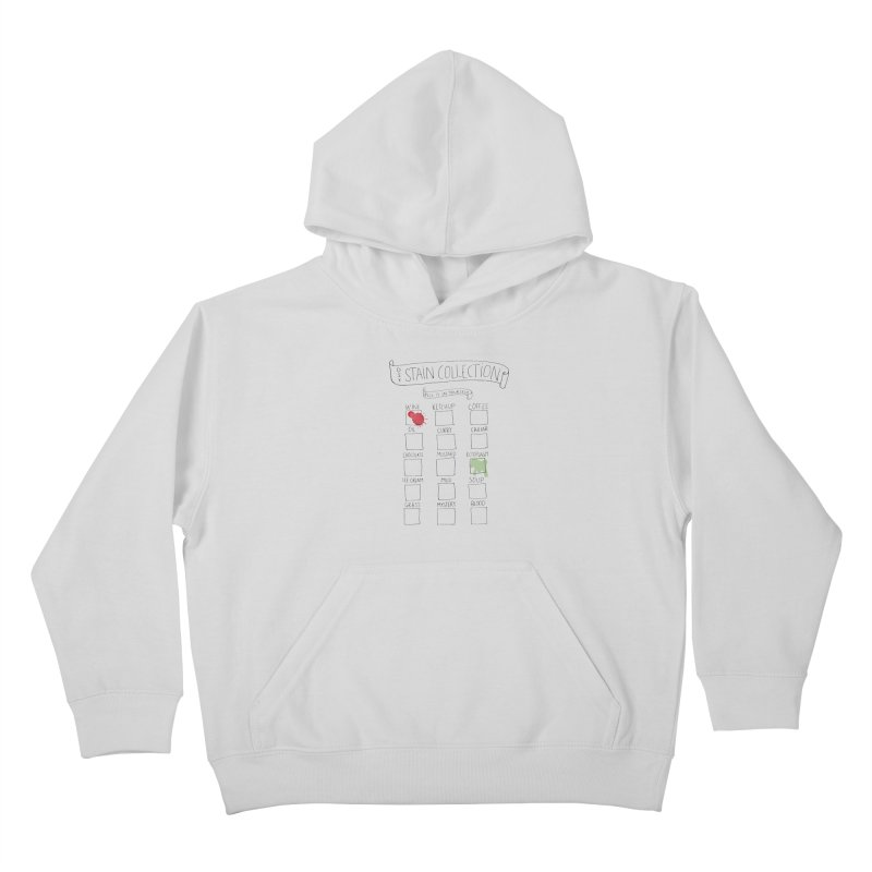 Stain Collection Kids Pullover Hoody by tonteau's Artist Shop
