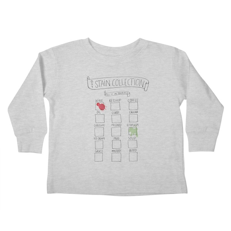 Stain Collection Kids Toddler Longsleeve T-Shirt by tonteau's Artist Shop