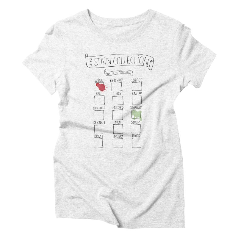 Stain Collection Women's Triblend T-shirt by tonteau's Artist Shop
