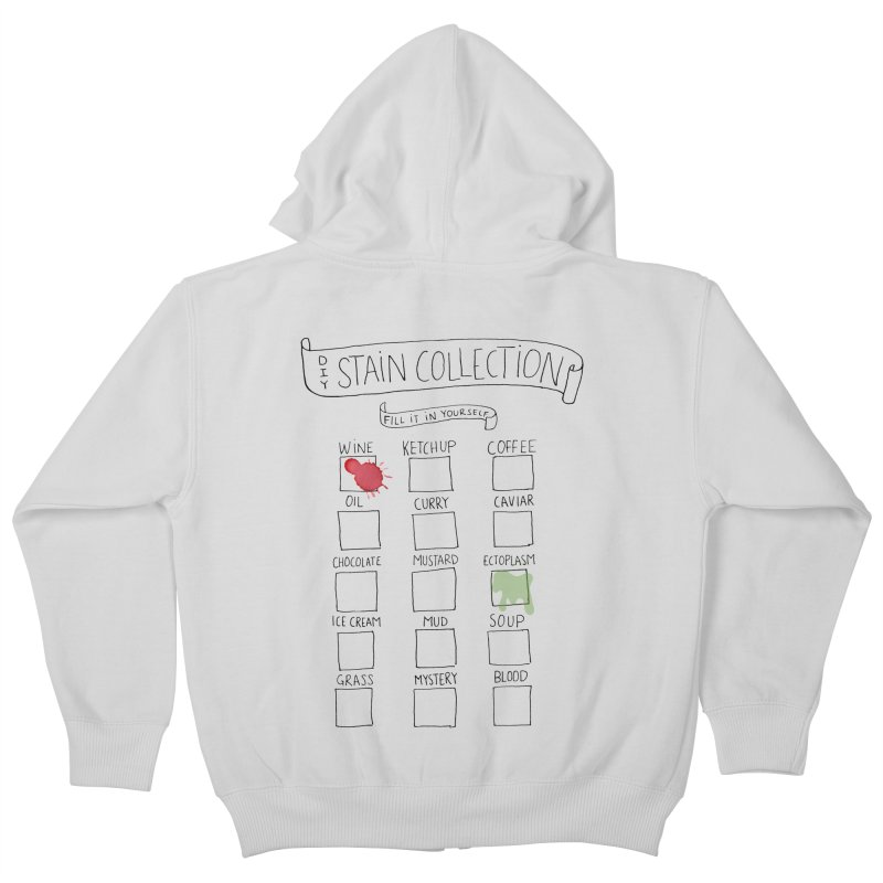 Stain Collection Kids Zip-Up Hoody by tonteau's Artist Shop