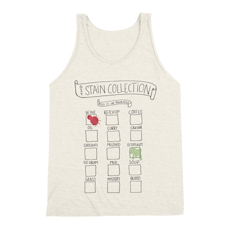 Stain Collection Men's Triblend Tank by tonteau's Artist Shop
