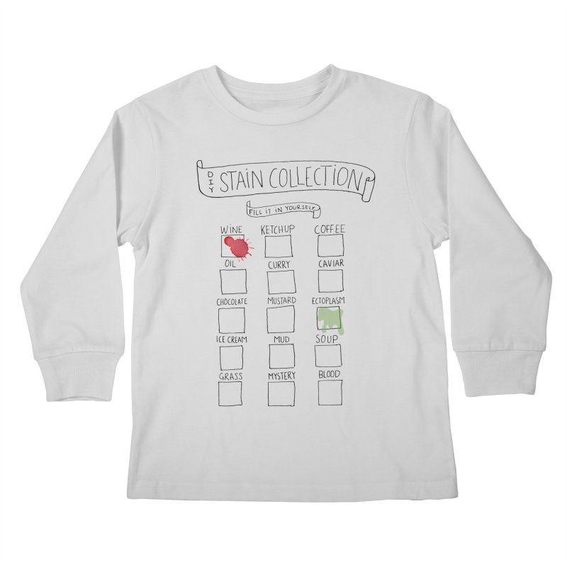 Stain Collection Kids Longsleeve T-Shirt by tonteau's Artist Shop
