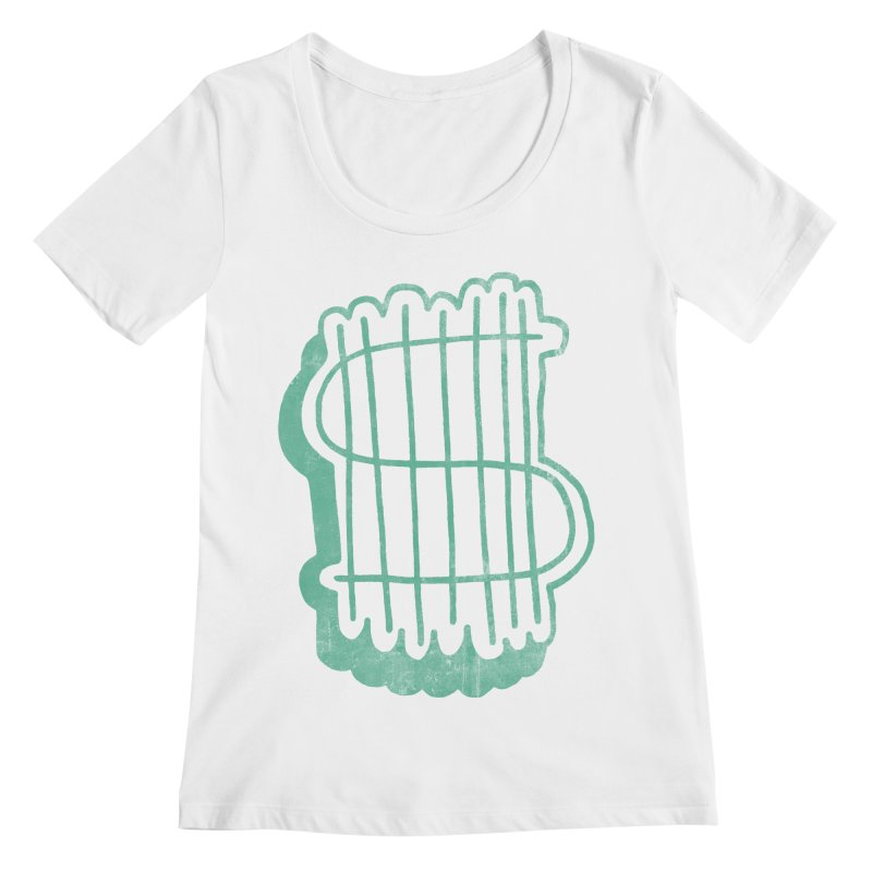 Megabux Women's Scoopneck by tonteau's Artist Shop