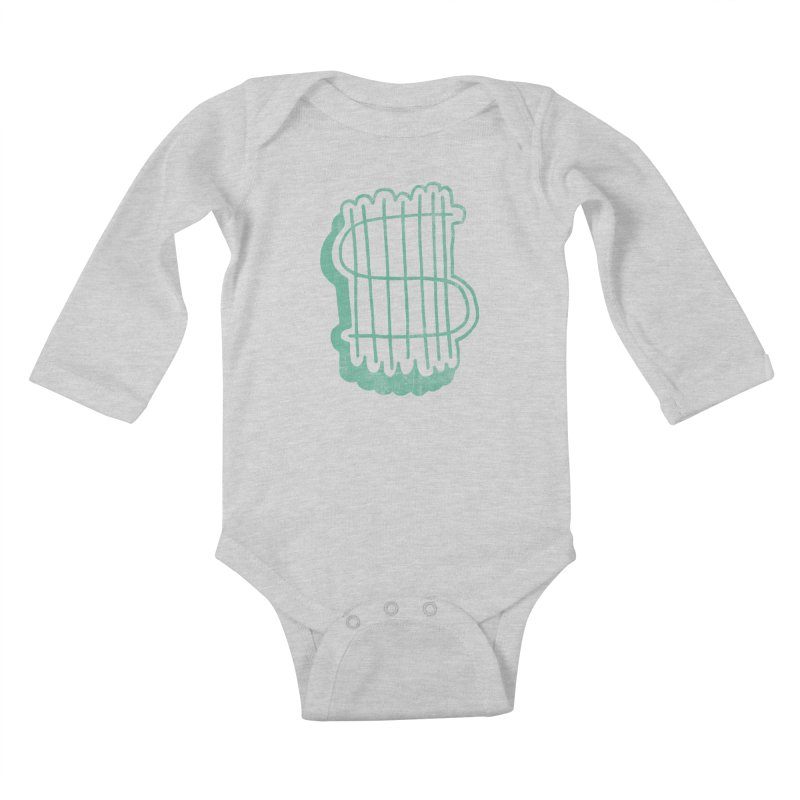 Megabux Kids Baby Longsleeve Bodysuit by tonteau's Artist Shop