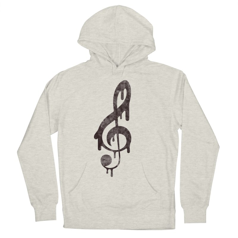Melting Clef Men's Pullover Hoody by tonteau's Artist Shop