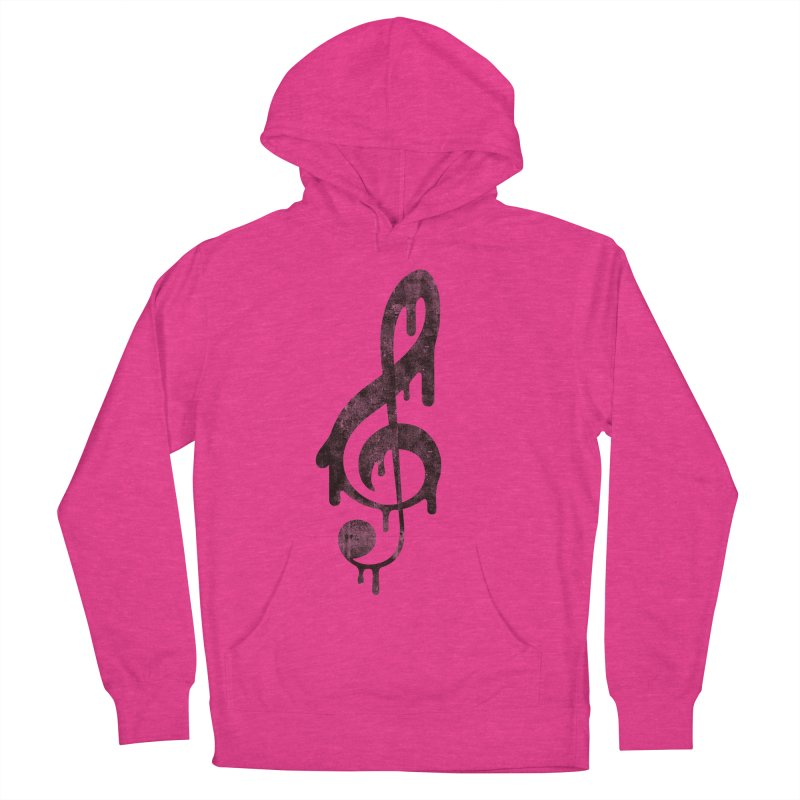 Melting Clef Men's French Terry Pullover Hoody by tonteau's Artist Shop