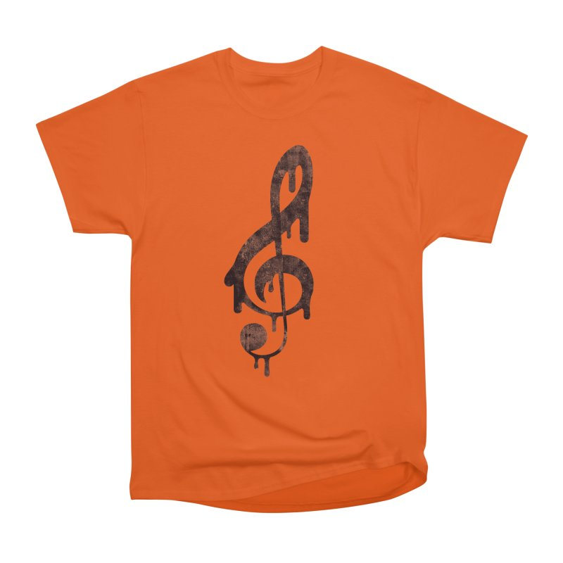 Melting Clef Women's Heavyweight Unisex T-Shirt by tonteau's Artist Shop