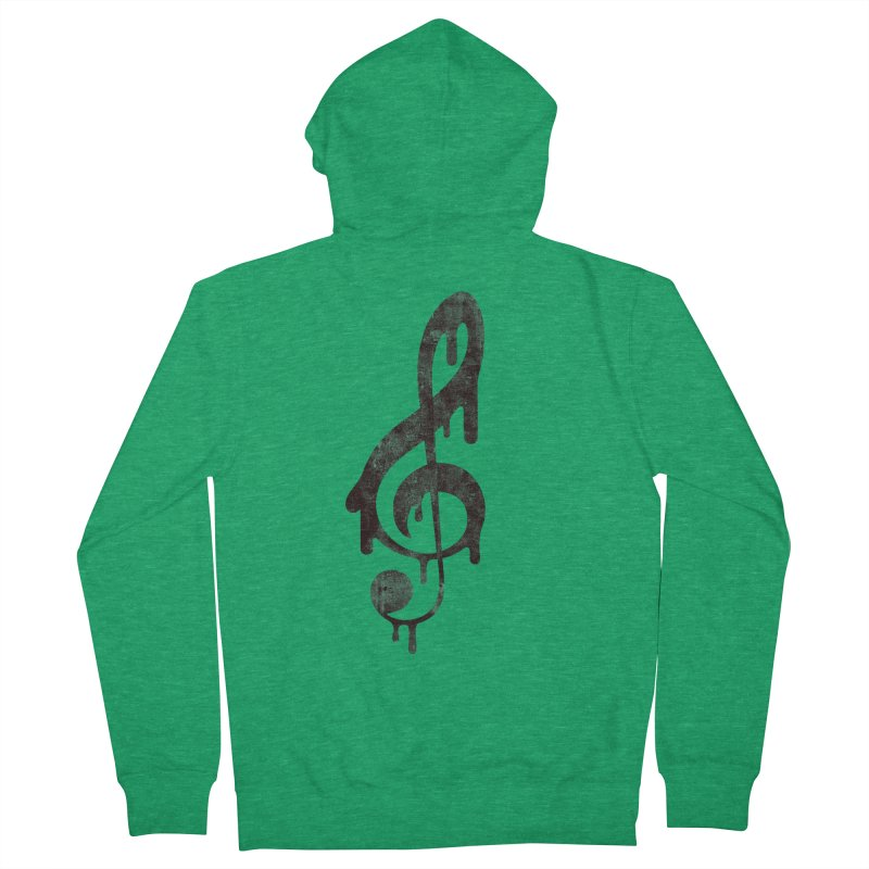 Melting Clef Women's Zip-Up Hoody by tonteau's Artist Shop