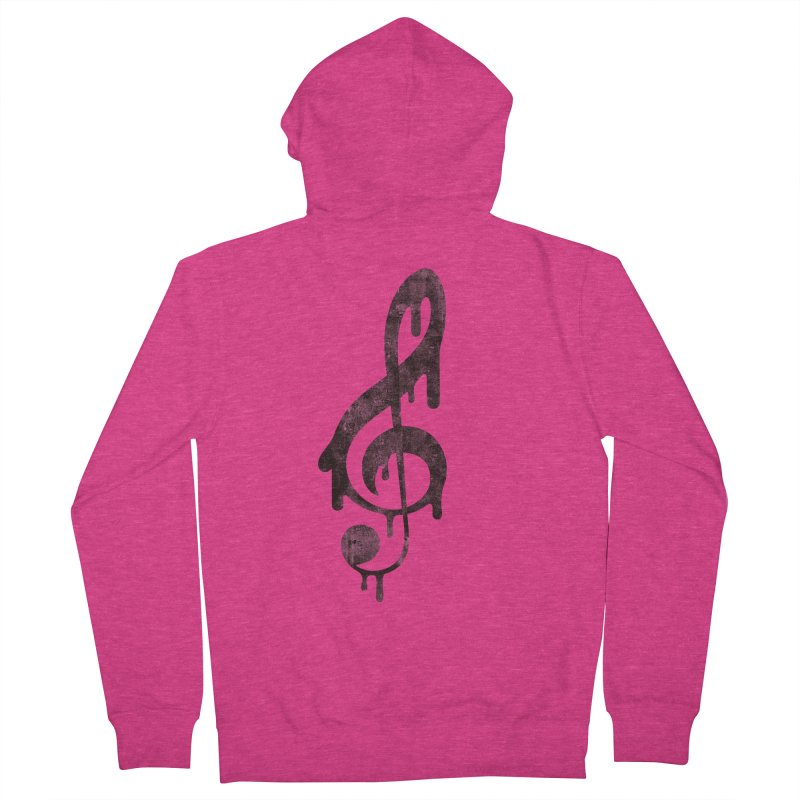 Melting Clef Women's French Terry Zip-Up Hoody by tonteau's Artist Shop