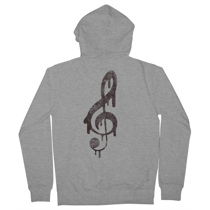 Melting Clef Men's French Terry Zip-Up Hoody by tonteau's Artist Shop