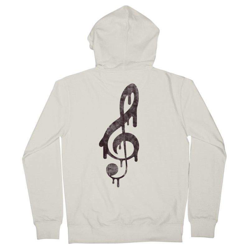 Melting Clef Men's Zip-Up Hoody by tonteau's Artist Shop