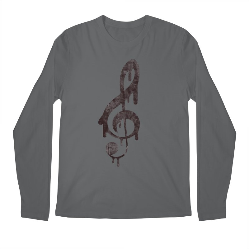 Melting Clef Men's Regular Longsleeve T-Shirt by tonteau's Artist Shop