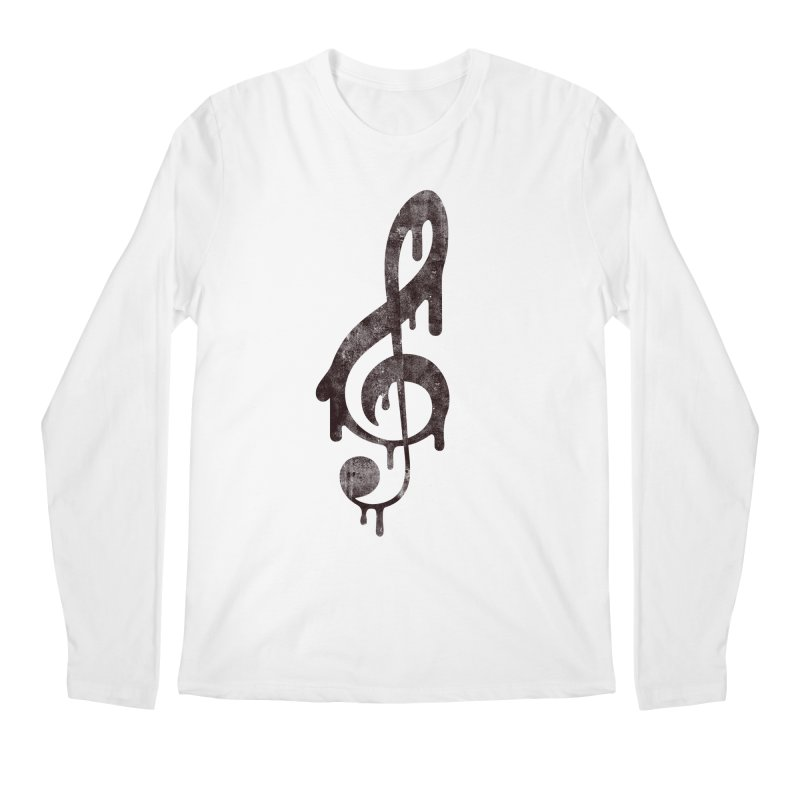 Melting Clef Men's Longsleeve T-Shirt by tonteau's Artist Shop