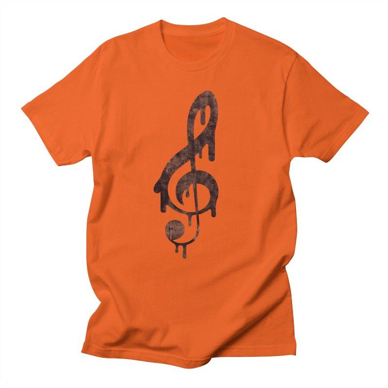 Melting Clef Women's Unisex T-Shirt by tonteau's Artist Shop