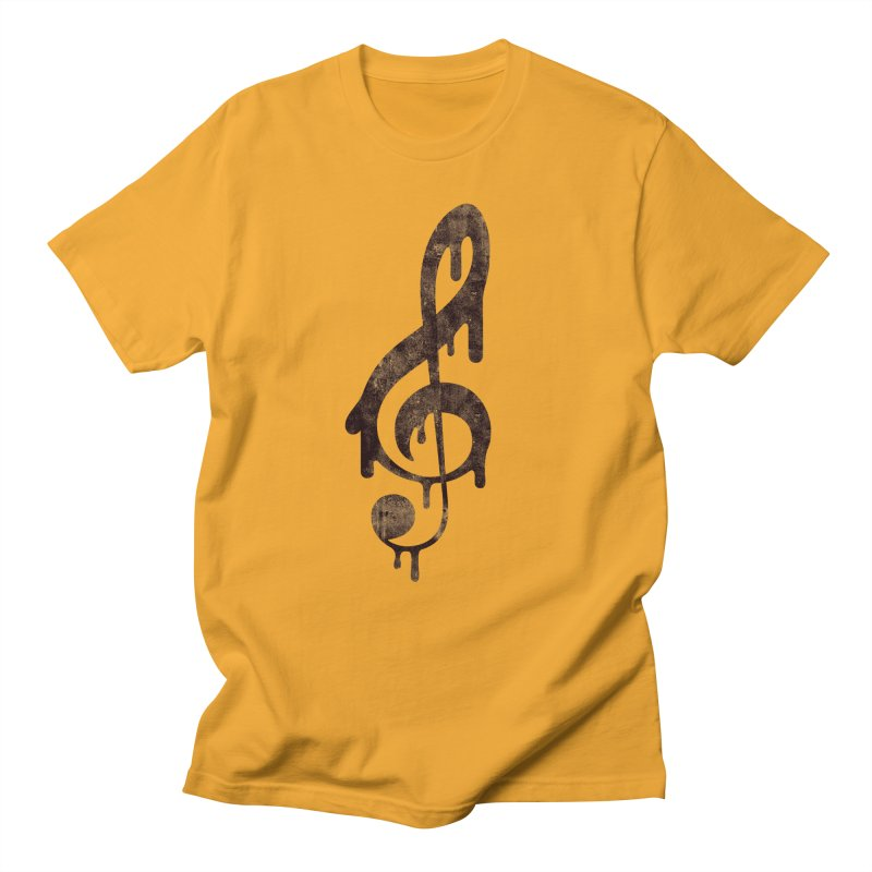 Melting Clef Men's T-Shirt by tonteau's Artist Shop