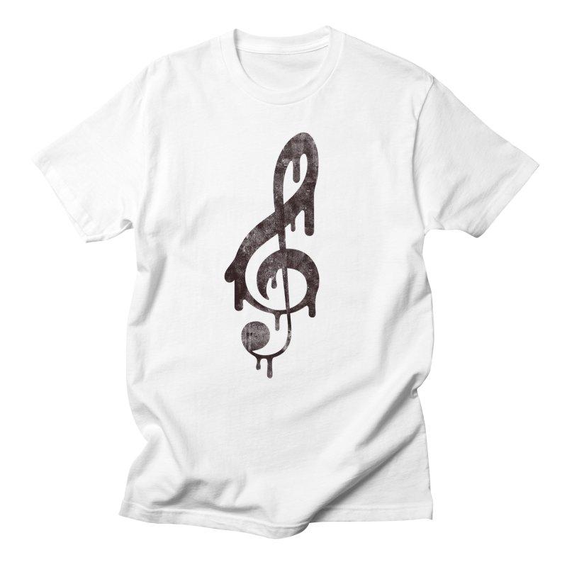 Melting Clef Women's Regular Unisex T-Shirt by tonteau's Artist Shop