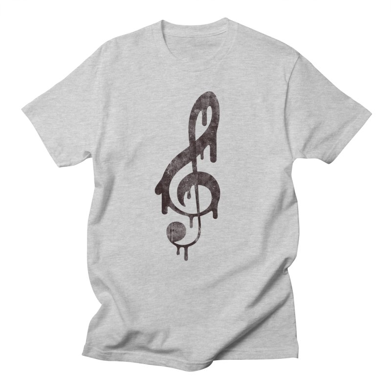Melting Clef Women's Regular Unisex T-Shirt by tonteau's Artist Shop