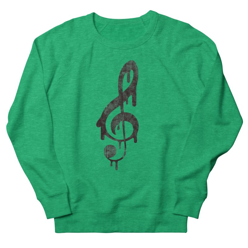 Melting Clef Women's Sweatshirt by tonteau's Artist Shop