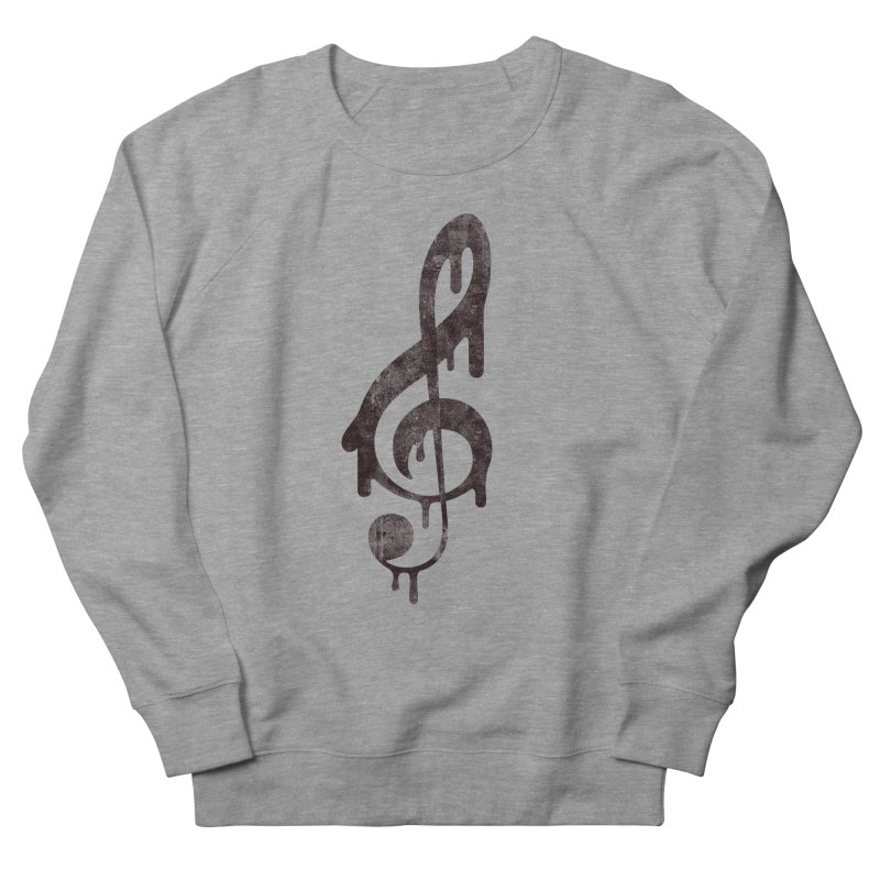 Melting Clef Men's French Terry Sweatshirt by tonteau's Artist Shop