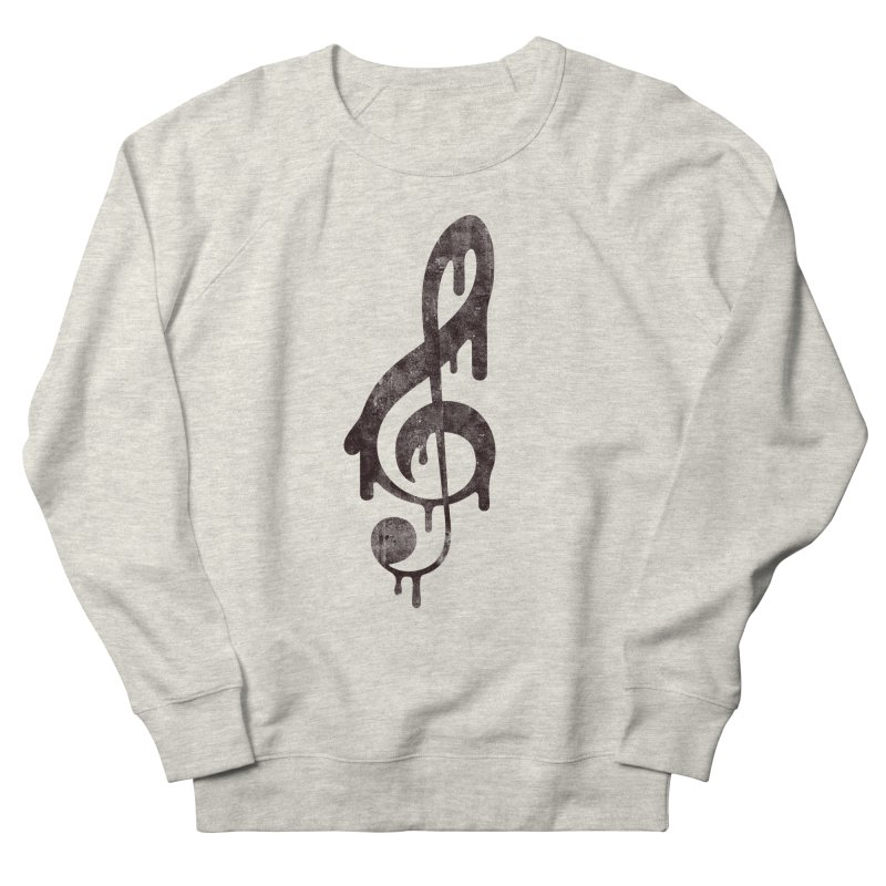 Melting Clef Men's Sweatshirt by tonteau's Artist Shop