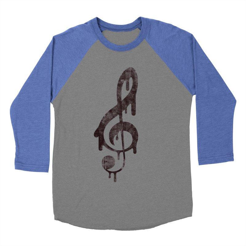 Melting Clef Women's Baseball Triblend Longsleeve T-Shirt by tonteau's Artist Shop