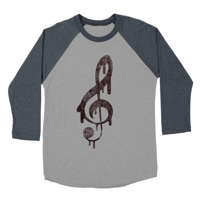 Melting Clef Women's Baseball Triblend T-Shirt by tonteau's Artist Shop