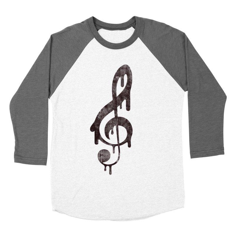 Melting Clef Men's Baseball Triblend T-Shirt by tonteau's Artist Shop