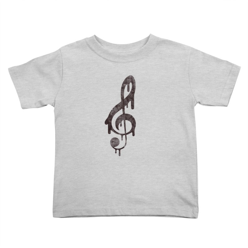 Melting Clef Kids Toddler T-Shirt by tonteau's Artist Shop