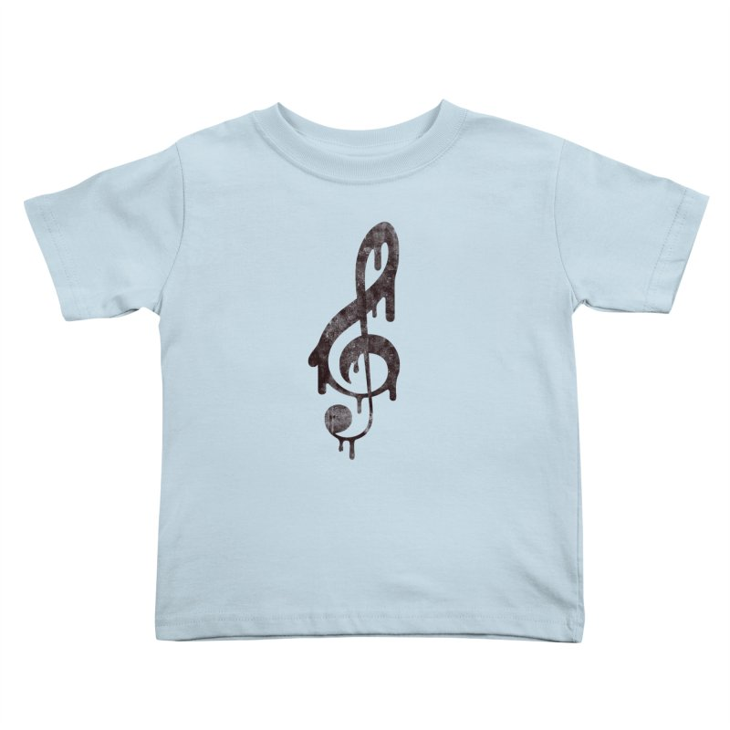 Melting Clef Kids Toddler T-Shirt by tonteau's Artist Shop